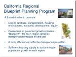 california regional blueprint planning program