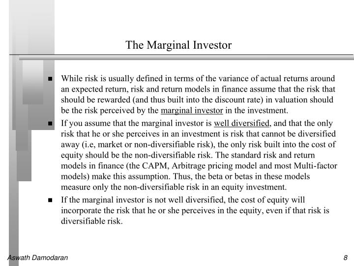The Marginal Investor