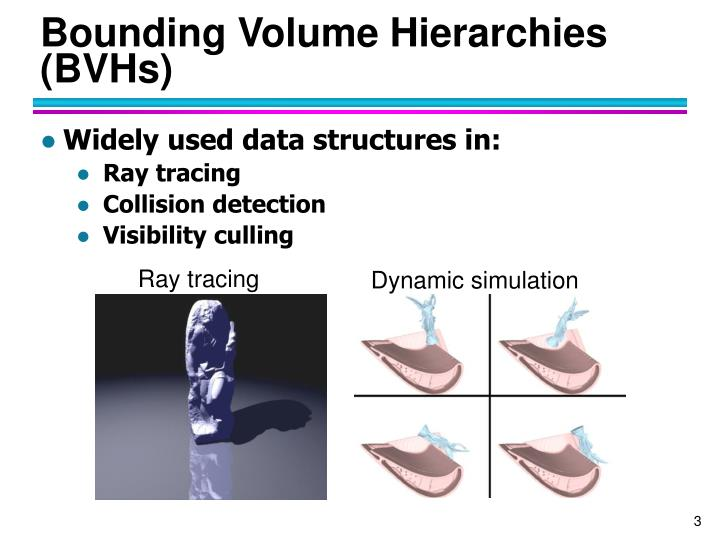 Bounding volume hierarchies bvhs