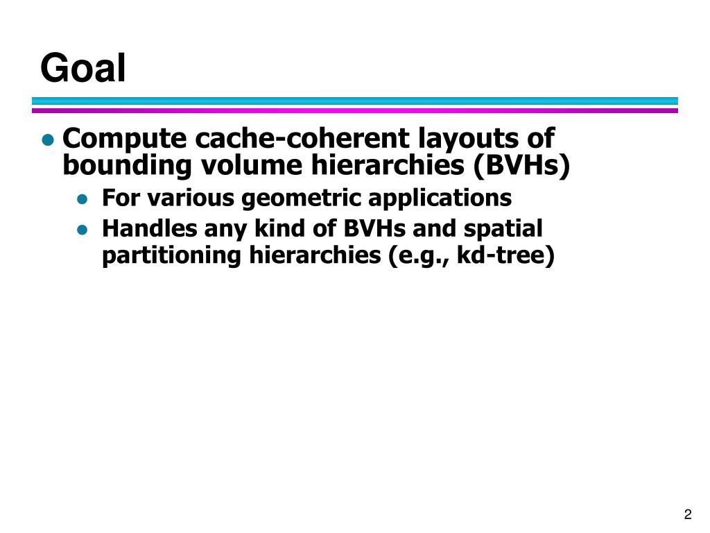 PPT - Cache-Efficient Layouts of Bounding Volume Hierarchies