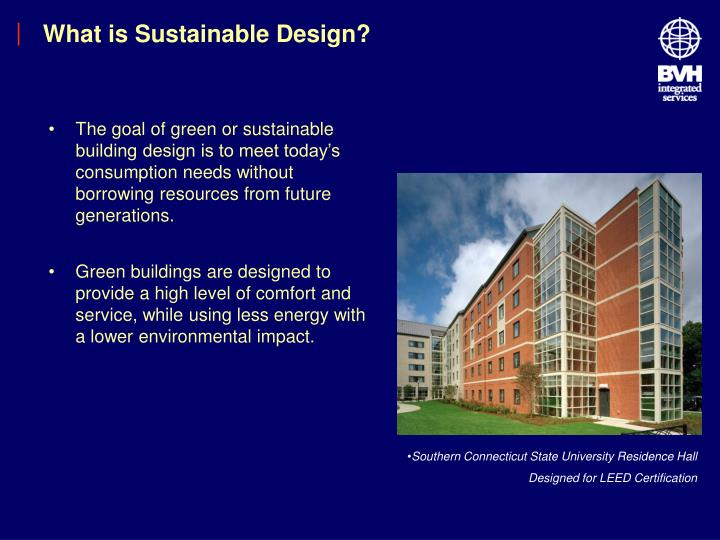 What is sustainable design