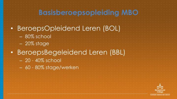 Basisberoepsopleiding MBO