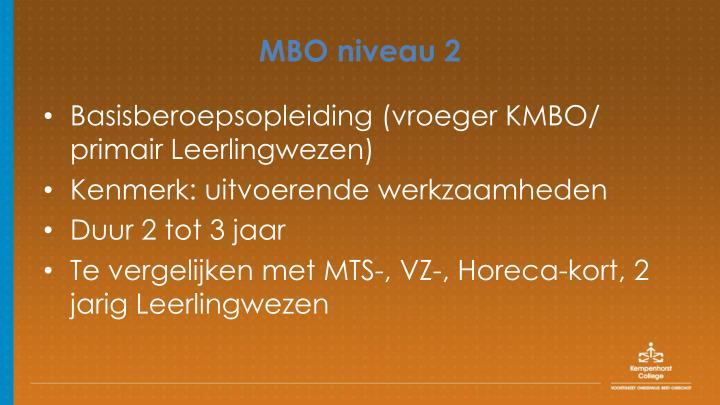 MBO niveau 2