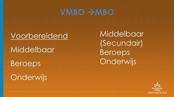Vmbo mbo