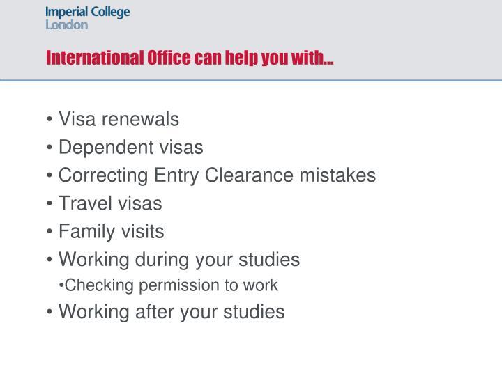 Visa renewals