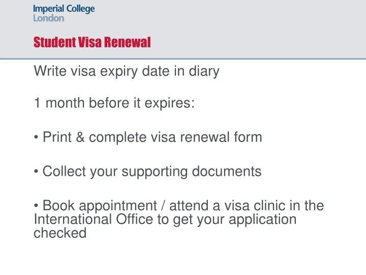Student Visa Renewal