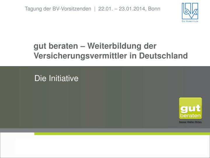 Gut beraten weiterbildung der versicherungsvermittler in deutschland