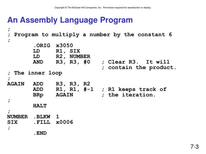 An assembly language program