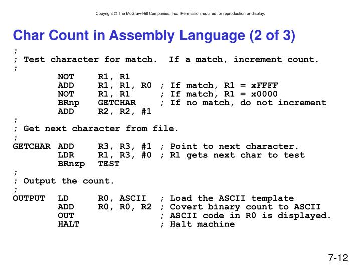 Char Count in Assembly Language (2 of 3)