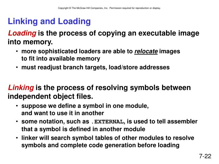 Linking and Loading