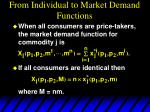 from individual to market demand functions1