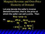 marginal revenue and own price elasticity of demand1
