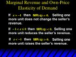 marginal revenue and own price elasticity of demand5