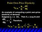 point own price elasticity
