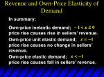 revenue and own price elasticity of demand8