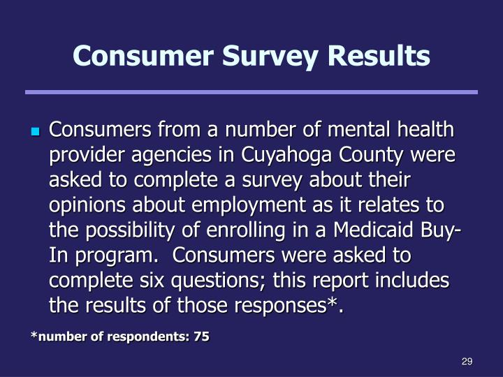 Consumer Survey Results