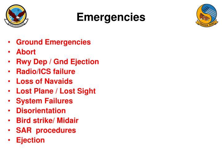 Ground Emergencies