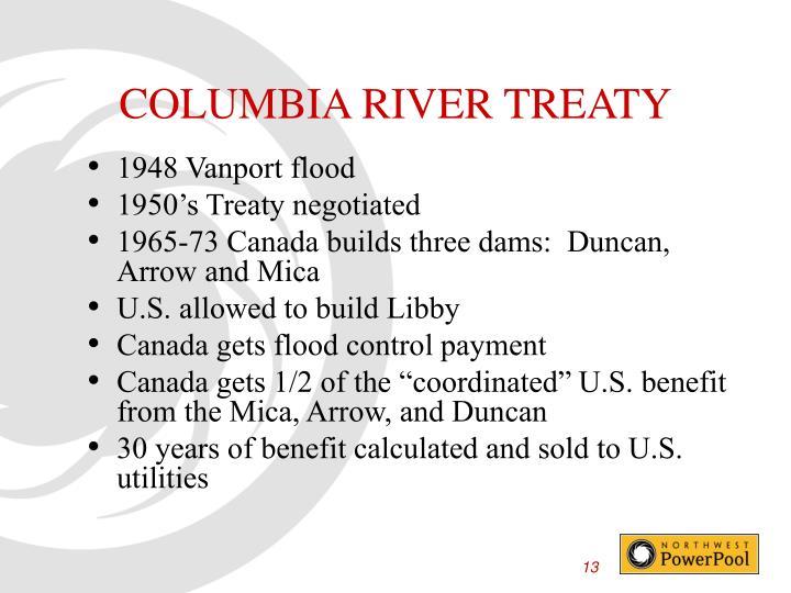 COLUMBIA RIVER TREATY