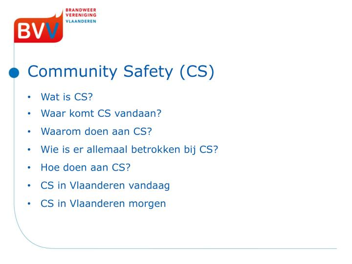 Community safety cs