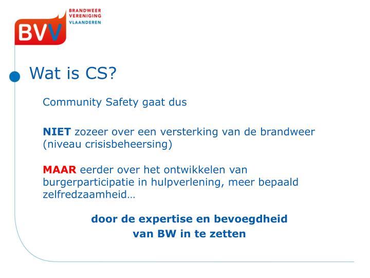 Wat is CS?