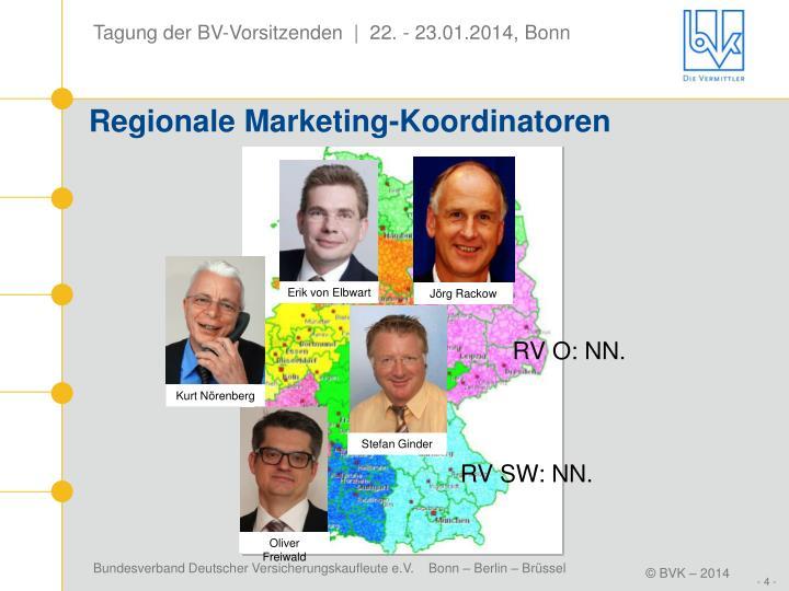 Regionale Marketing-Koordinatoren