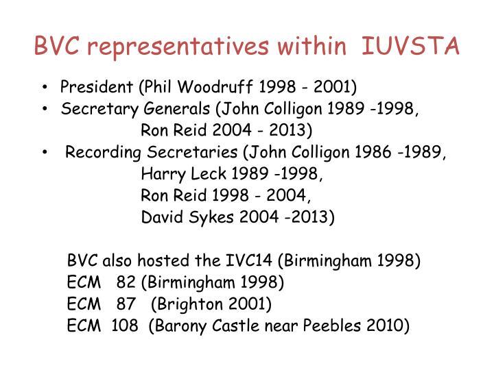 BVC representatives within  IUVSTA