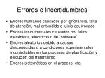 errores e incertidumbres