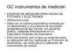 gc instrumentos de medici n