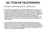 gc ttos en teleterapia