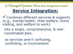 a changed system what does integration mean