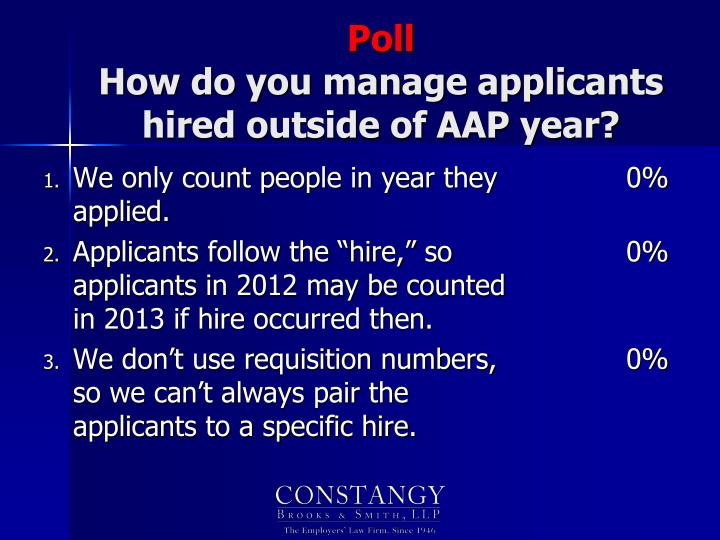 We only count people in year they applied.