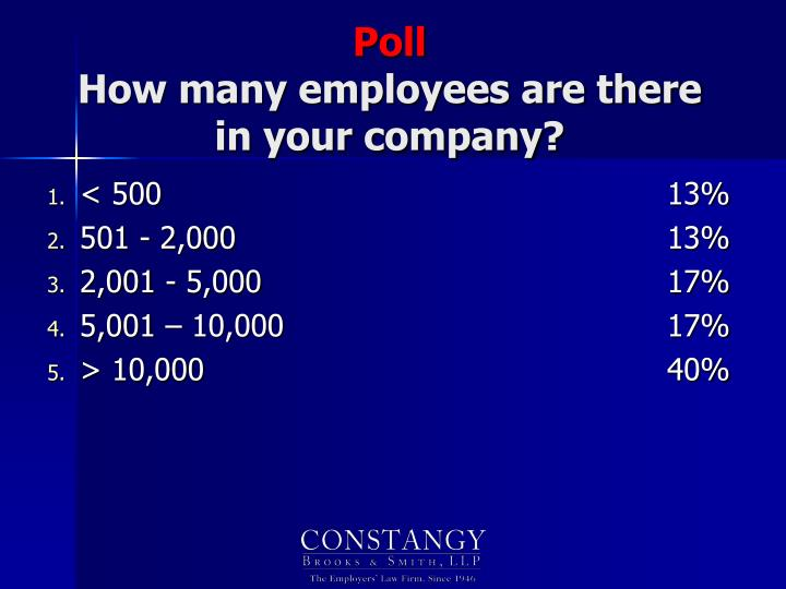 Poll how many employees are there in your company