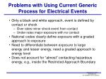 problems with using current generic process for electrical events
