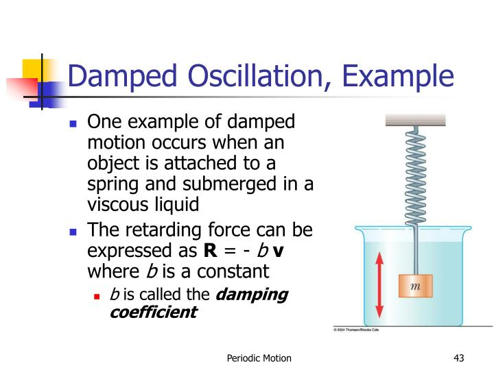 Damped Oscillation, Example
