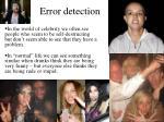 error detection2