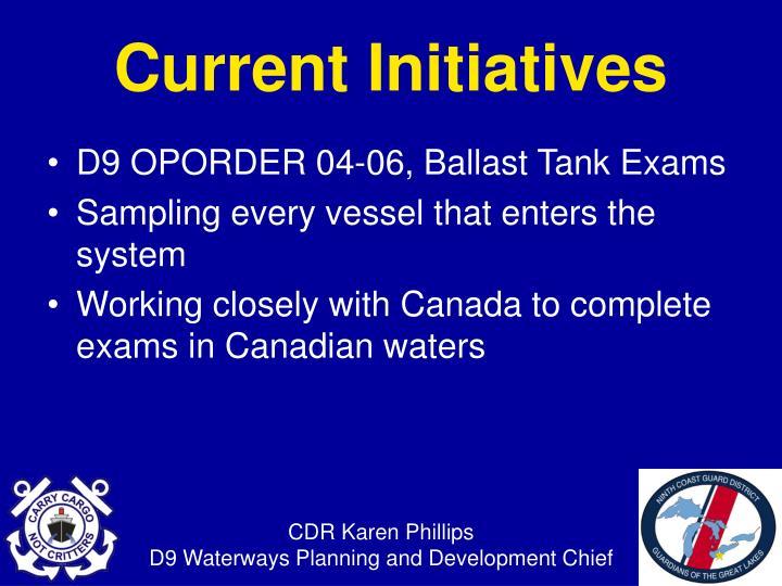 D9 OPORDER 04-06, Ballast Tank Exams