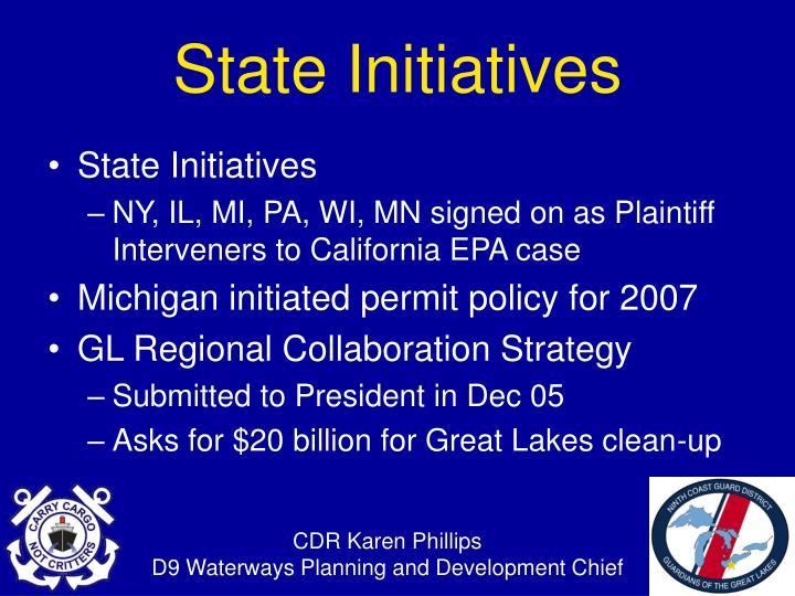 State Initiatives