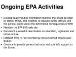 ongoing epa activities
