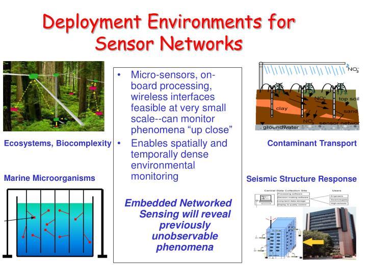 Deployment Environments for Sensor Networks