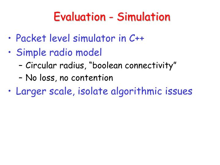 Evaluation - Simulation