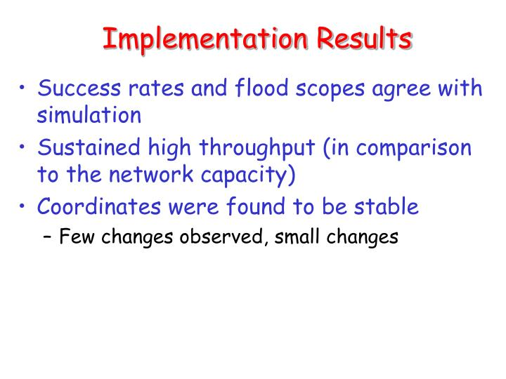 Implementation Results