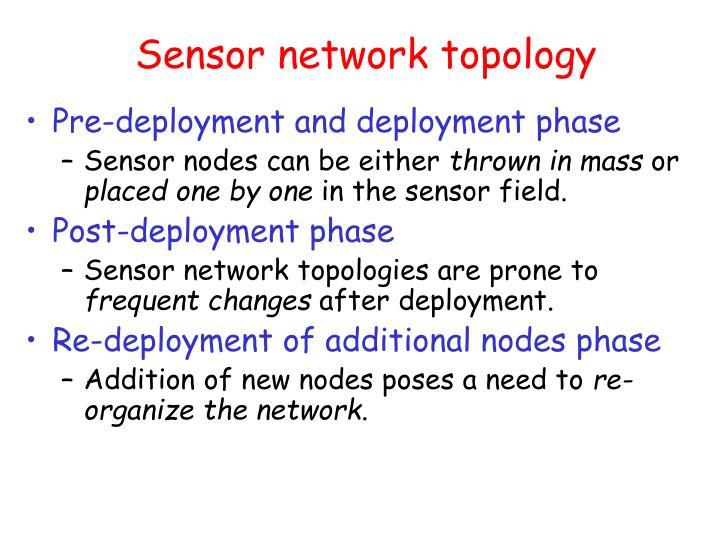 Sensor network topology