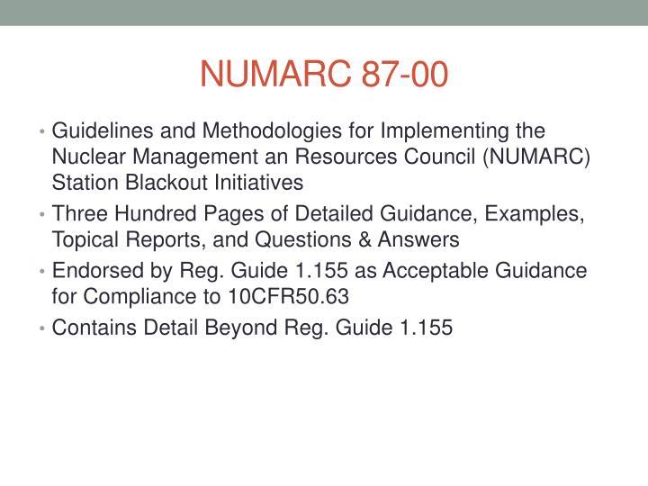 NUMARC 87-00