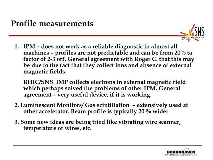 Profile measurements