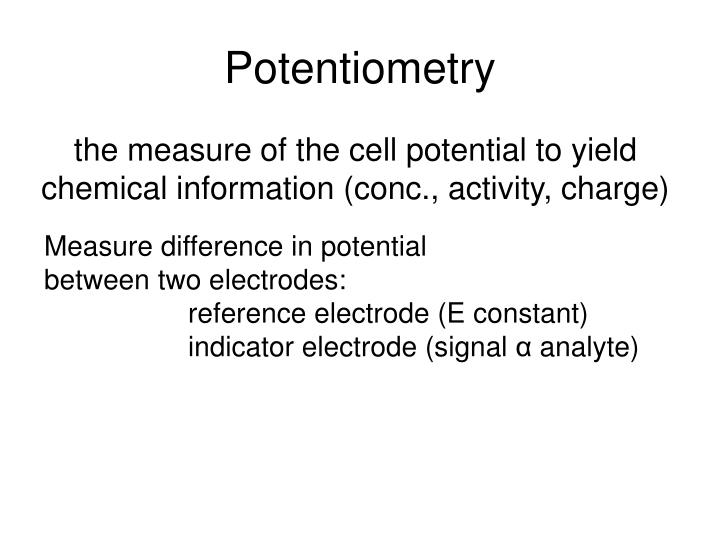 Potentiometry