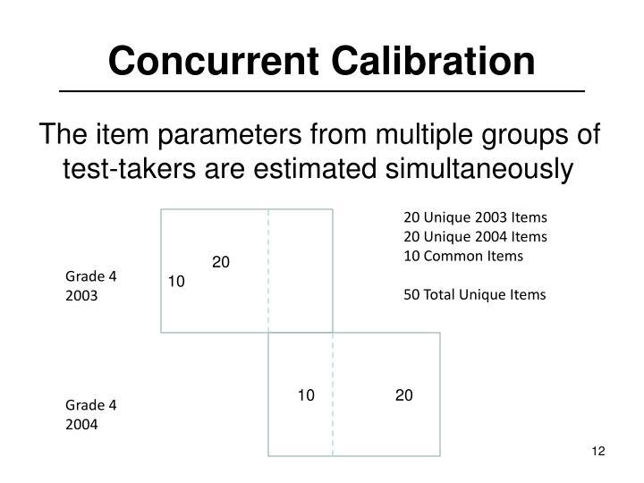 Concurrent Calibration