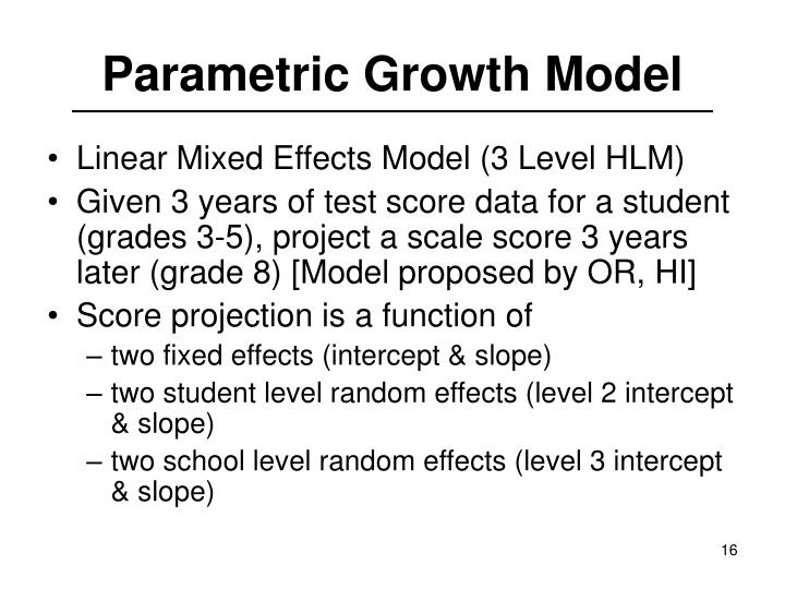 Parametric Growth Model