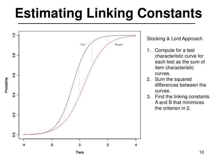 Estimating Linking Constants