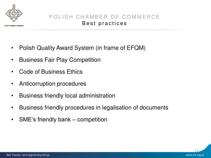 POLISH CHAMBER OF COMMERCE