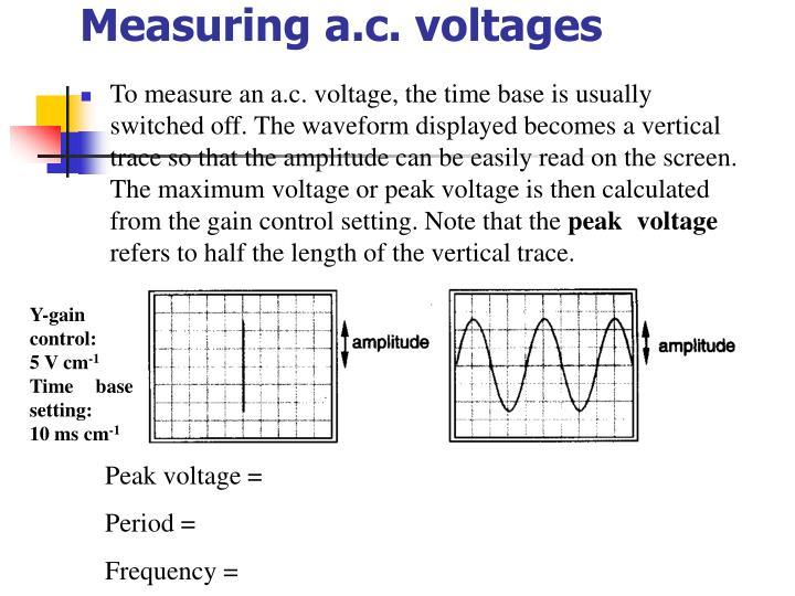 Measuring a.c. voltages